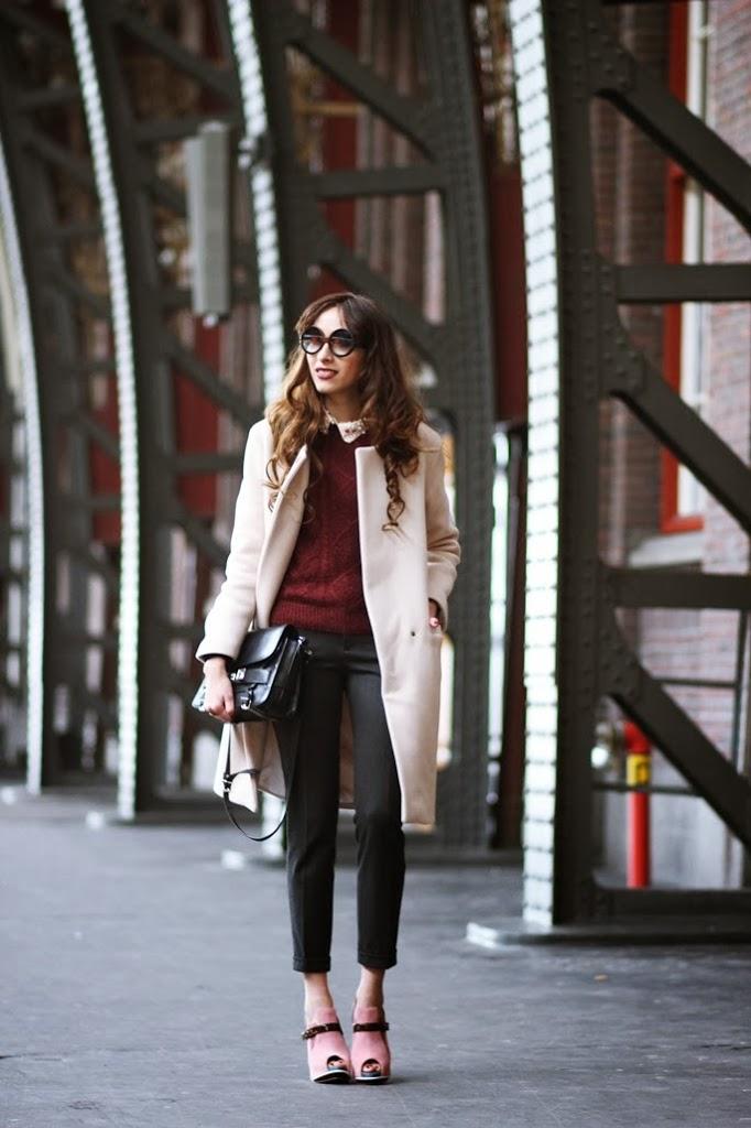 ff0600cb70696 Sunglasses  courtesy of ZEROUV Sweater  H M Collar  Romwe Trousers  Zara  Shoes  ABCENSE Coat  Sandro Bag  PROENZA SCHOULDER