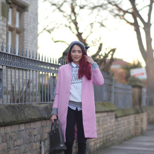 Pink preppy coat